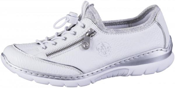 12.44.104 RIEKER Sneaker weiß/argento/silverflower