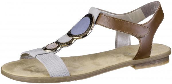14.44.216 RIEKER Sandale cement/amaretto/rose/jeans