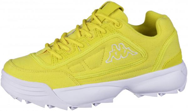 41.44.164 KAPPA Rave Sun Sneaker yellow/white