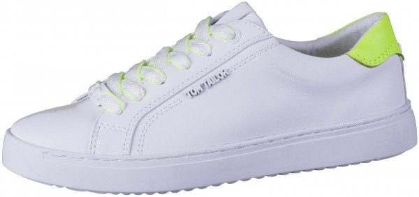 12.44.180 TOM TAILOR Sneaker white/neon yellow