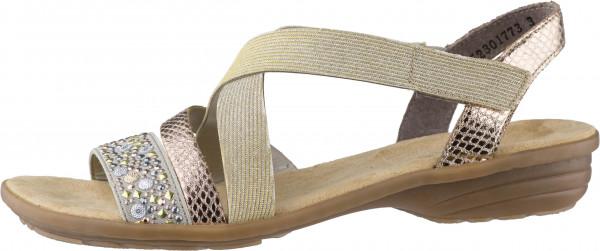 14.42.199 RIEKER Sandale beige/kupfer/lightgold
