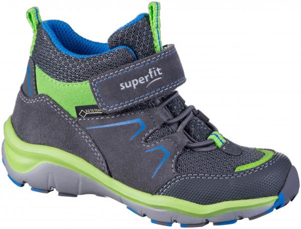 37.43.188 SUPERFIT Stiefel grau/grün
