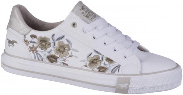 12.44.203 MUSTANG Sneaker weiß/beige