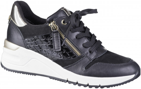 12.45.150 TAMARIS Sneaker black/gold
