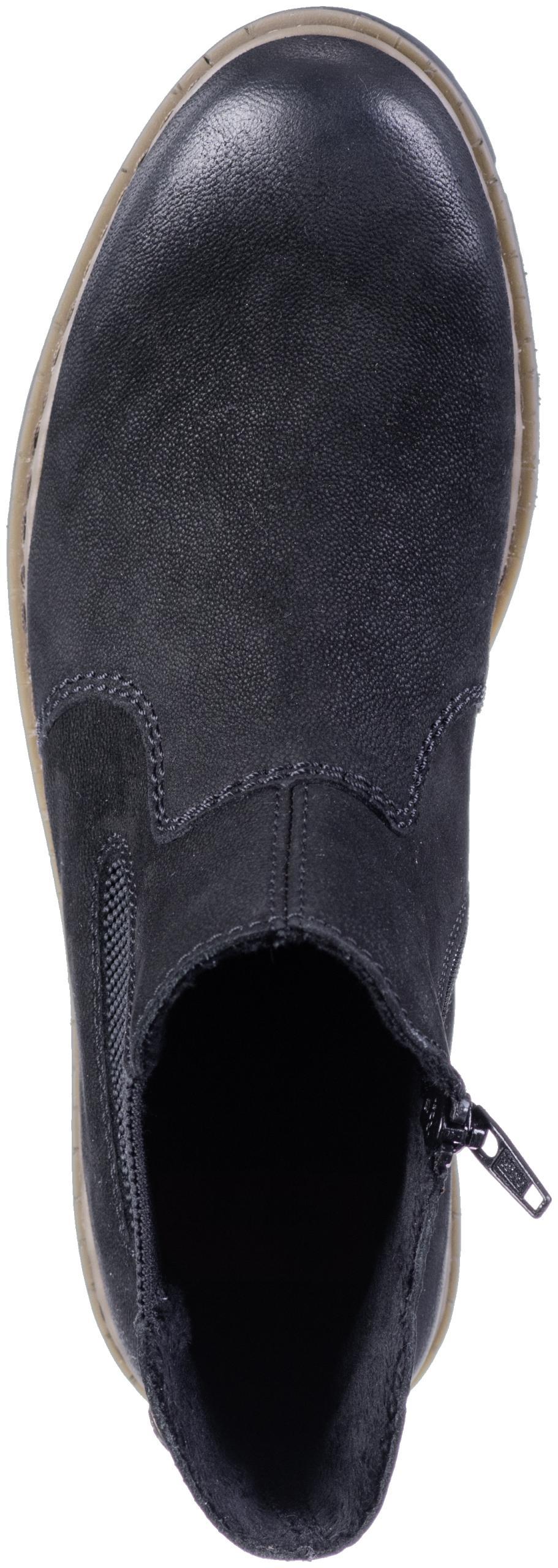 RIEKER Stiefelette schwarzschwarz