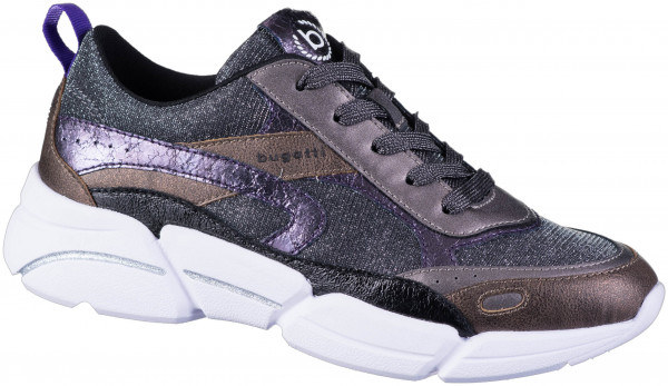 16.43.298 BUGATTI woman Sneaker metallics/dark grey
