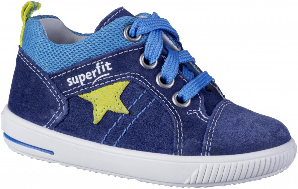 30.44.114 SUPERFIT Lauflernschnürer blau/gelb