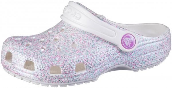 43.43.105 CROCS TM SHOES Crocs Classic Glitter Clog Kids oyster